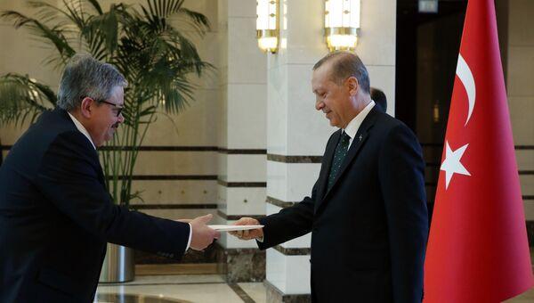 Вручение верительных грамот Эрдогану послом РФ в Турции. 27 июля 2017