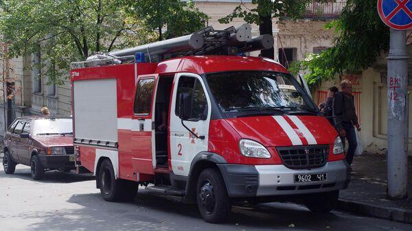 Пожарная машина в Киеве