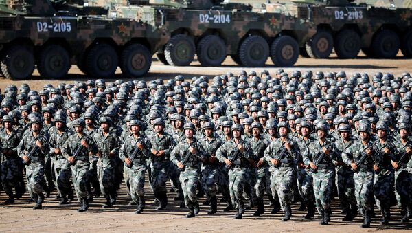 Военный парад, посвященный 90-летию Народно-освободительной армии Китая. 30.07.2017