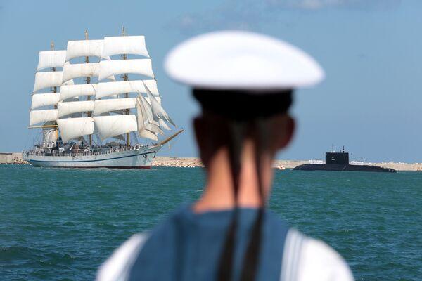 Во время празднования Дня Военно-морского флота России в Севастополе. 30 июля 2017