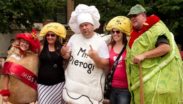 Фестиваль еды Pierogi Fest в городе Уайтинг
