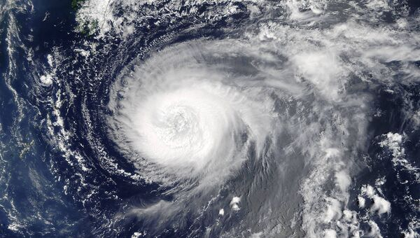 Супертайфун Нору над Тихим океаном. 3 августа 2017