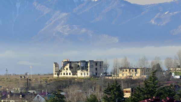 Городок российских миротворцев в Цхинвале. Архивное фото