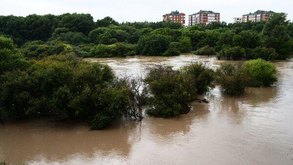 Река Комаровка в Приморье, разлившаяся после ливней. 7 августа 2017