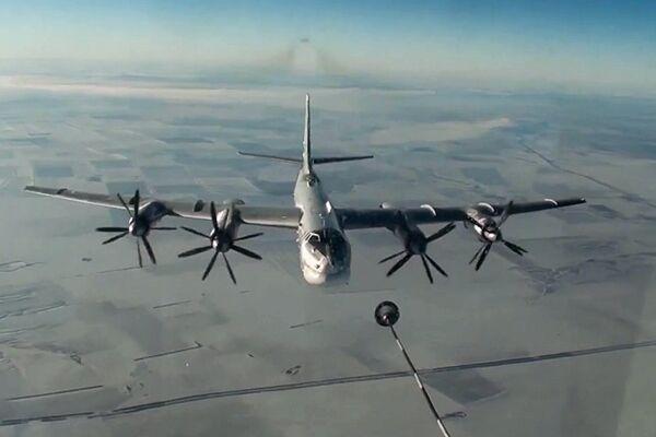Стратегический бомбардировщик-ракетоносец Ту-95МС ВКС РФ