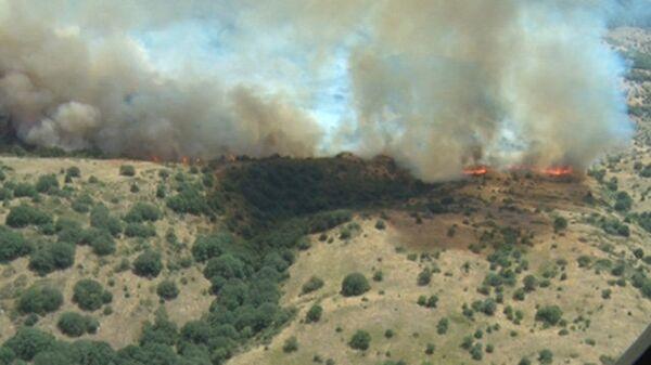 Пожар в Хосровском заповеднике в Армении. Архивное фото