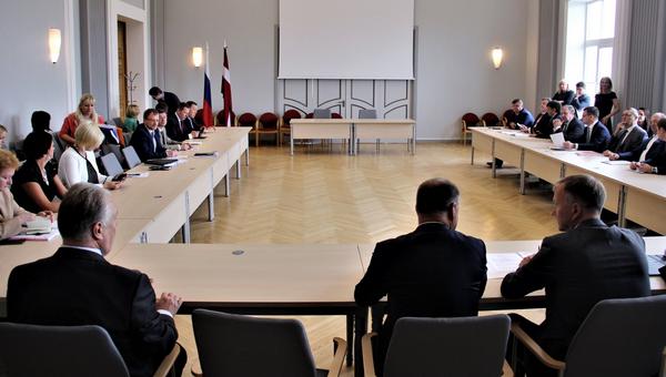 Церемония открытия совещания Латвийско-русской межправительственной комиссии