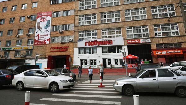 Здание торгового центра Горбушкин двор в Москве, на месте которого могут построить жилые комплексы
