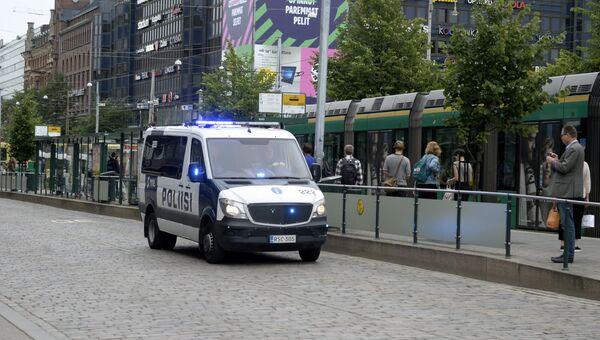 Полицейский автомобиль в Турку, Финляндия. 18 августа 2017