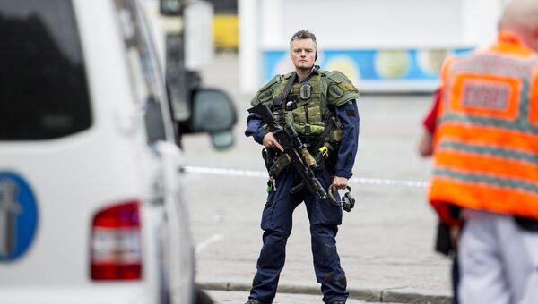 Полиция на месте происшествия в городе Турку, Финляндия. 18 августа 2018