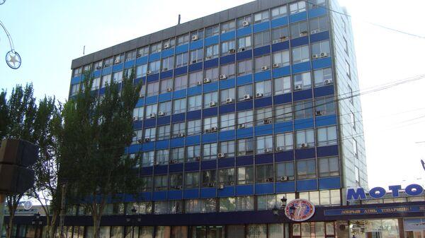 Административное здание предприятия «Мотор Сич», расположеное на юго-востоке Украины в городе Запорожье