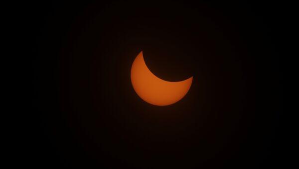 Солнечное затмение над заливом Депо Бэй, США. 21 августа 2017