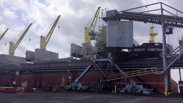 Отправка американского энергетического угля для нужд ПАО Центрэнерго в морском порту Балтимор,США. 22 августа 2017