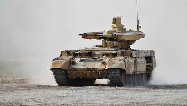 Боевая машина огневой поддержки БМПТ Терминатор-3 во время военно-технического форума Армия-2017