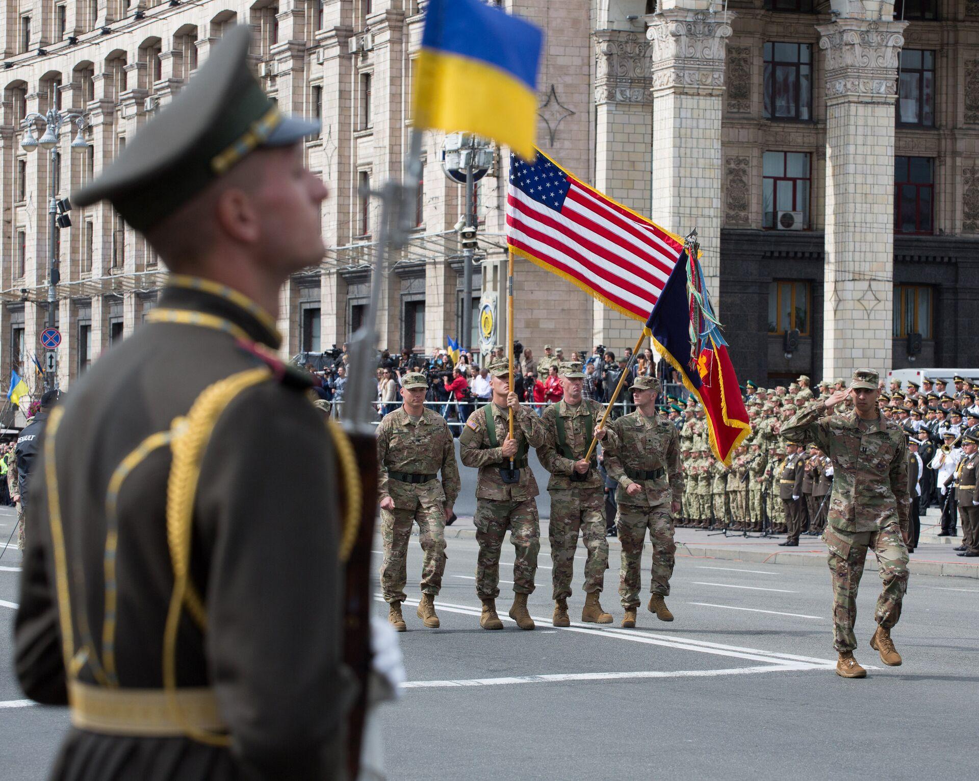 Военнослужащие стран НАТО на параде в честь Дня независимости в Киеве - РИА Новости, 1920, 08.06.2021