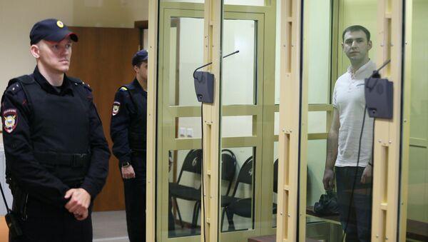 Шота Элизбарашвили, обвиняемый в пособничестве Амирану Георгадзе, на заседании Московского областного суда. Архивное фото