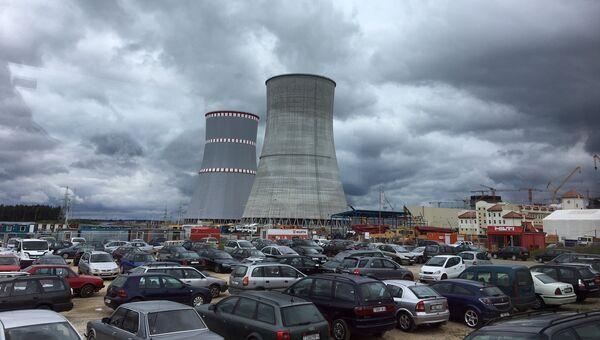Строящаяся АЭС неподалеку от города Островец в Белоруссии. Архивное фото