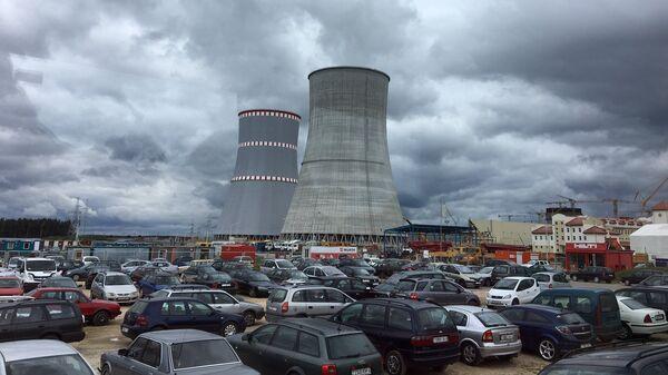 Строящаяся АЭС неподалеку от города Островец в Белоруссии
