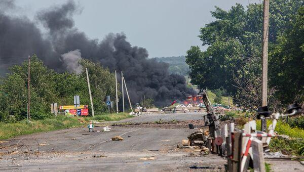 Дорога в Донецкой области. Архивное фото
