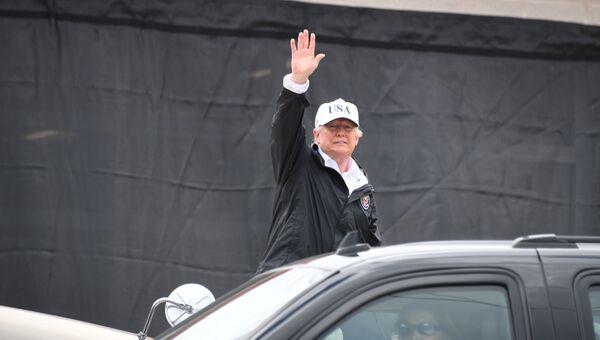 Президент США Дональд Трамп в Корпус-Кристи, штат Техас. 29 августа 2017