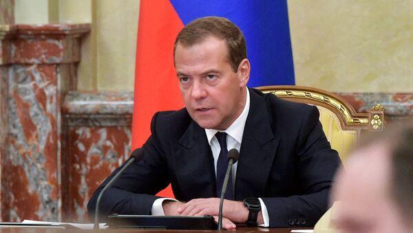 Дмитрий Медведев проводит совещание с членами кабинета министров РФ в Доме правительства РФ. 31 августа 2017