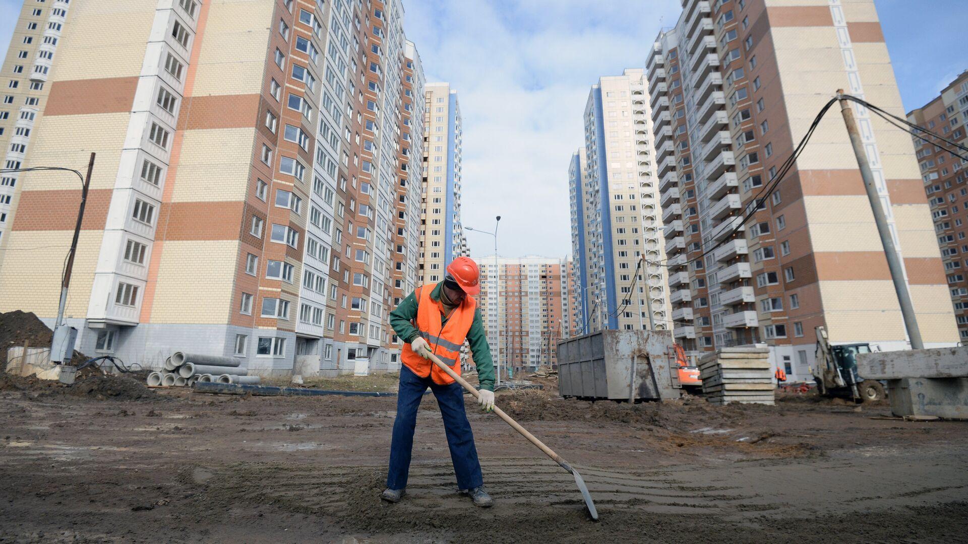 Строительство новых жилых домов в Москве - РИА Новости, 1920, 15.09.2020