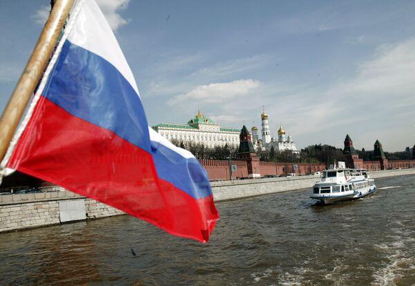 Речной теплоход на Москве-реке