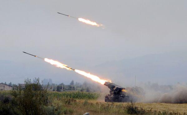 Грузия ведет обстрел Южной Осетии