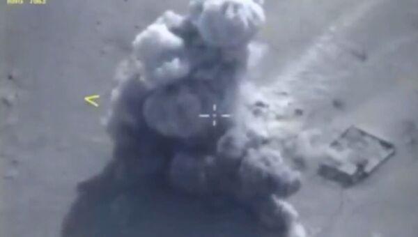 Ракеты с Адмирала Эссена ударили по объектам ИГ*. Съемка Минобороны РФ