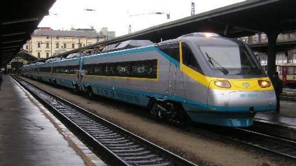 Скоростной поезд Пендолино в Чехии