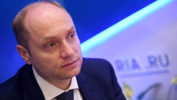 Министр Российской Федерации по развитию Дальнего Востока Александр Галушка на Восточном экономическом форуме во Владивостоке. 7 сентября 2017