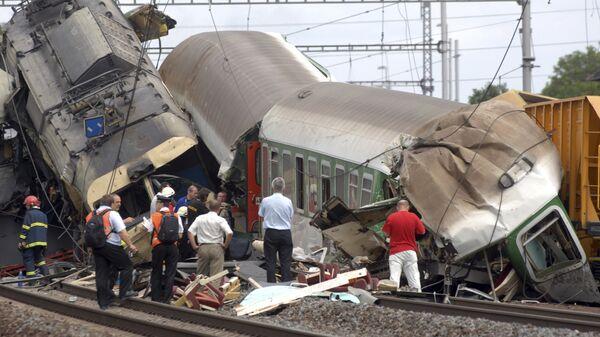 Крушение поезда. Архив