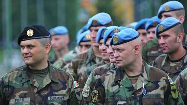 Военнослужащие ВС Молдовы во время Международных военных учений Rapid trident. Архивное фото.
