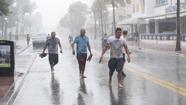 Ураган Ирма приближается к Майами, США. 9 сентября 2017