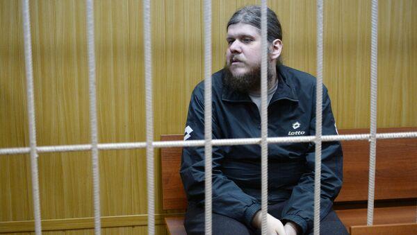Лидер секты Андрей Попов в Тверском суде города Москвы. 30 декабря 2015