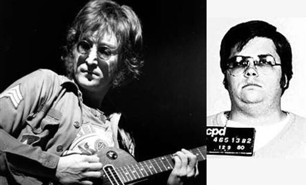 Джон Леннон и его убийца Марк Дэвид Чэпмен