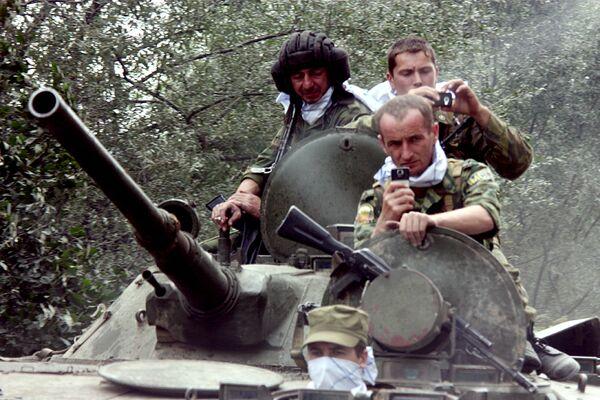 Российские военнослужащие в Южной Осетии