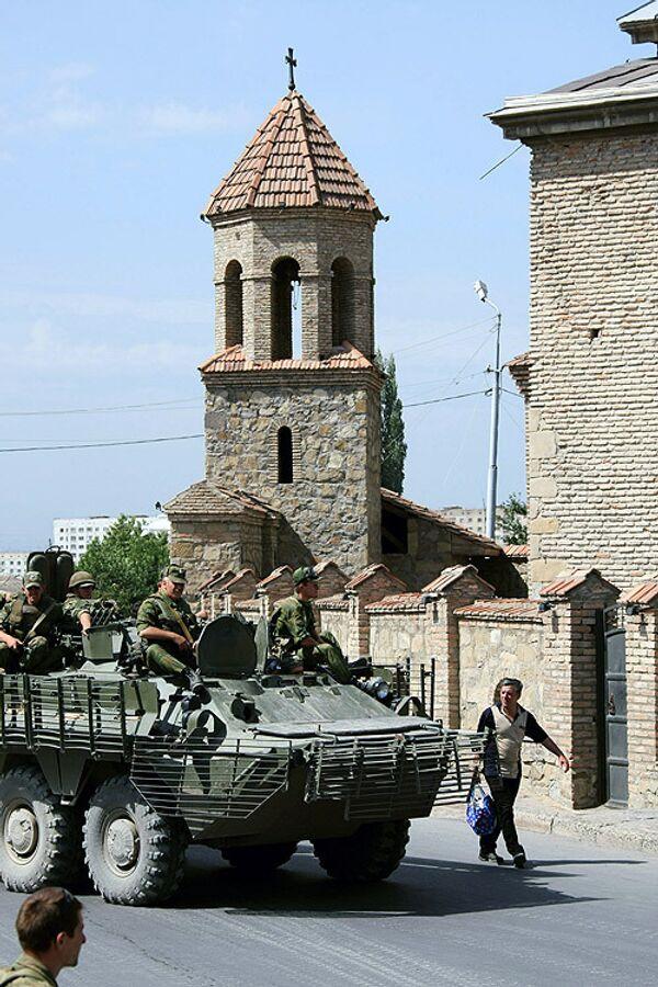 Город Гори после грузино-югоосетинского конфликта