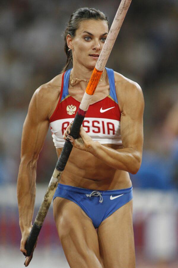 Елена Исинбаева на Олимпиаде в Пекине