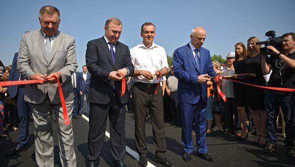 Торжественное открытие движения по автодороге Уляп-Тенгинская