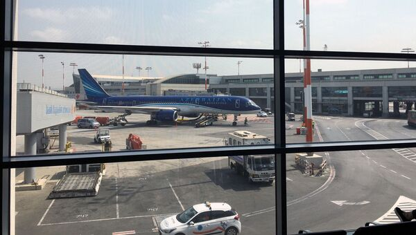 Самолет на котором в Израиль доставили арестованного Александра Лапшина. 14 сентября 2017