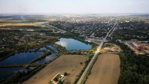 Вид на один из поселков Краснодарского края