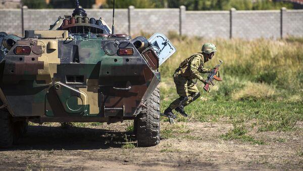 БТР-82А вооруженных сил Киргизии во время учений Иссык-Куль