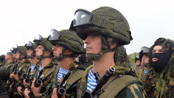Военнослужащие во время совместных стратегических учений вооруженных сил Республики Белоруссия и Российской Федерации Запад-2017. 20 сентября 2017