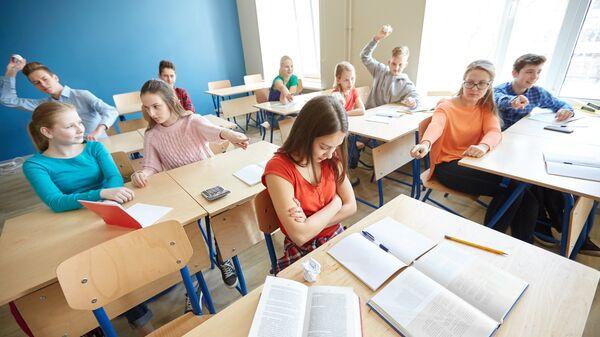 Учащиеся в школе