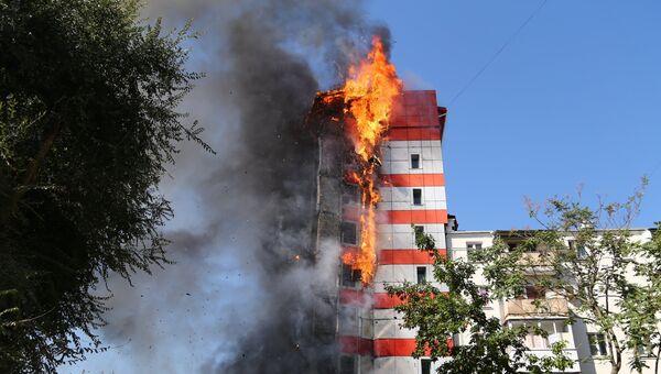 Пожар в отеле Torn House в Ростове-на-Дону. 21 сентября 2017