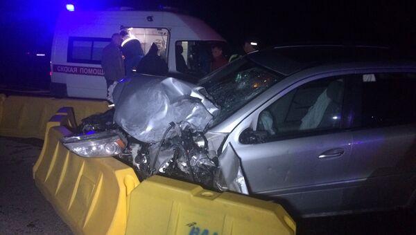 Последствия ДТП на 30-м километре автодороги «Калининград-Черняховск-Нестеров» в районе поворота на поселок Солдатово. 22 сентября 2017