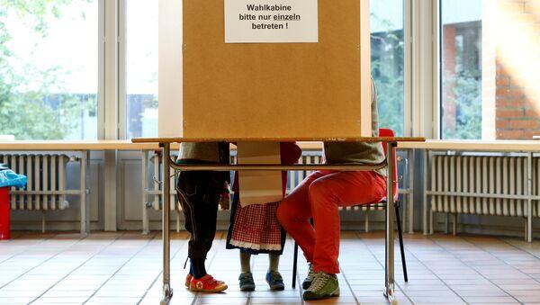 Избирательный участок в Мюнхене, Германия. 24 сентября 2017