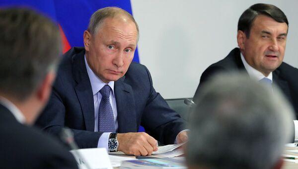 22 сентября 2017. Президент РФ Владимир Путин на заседании президиума Государственного совета