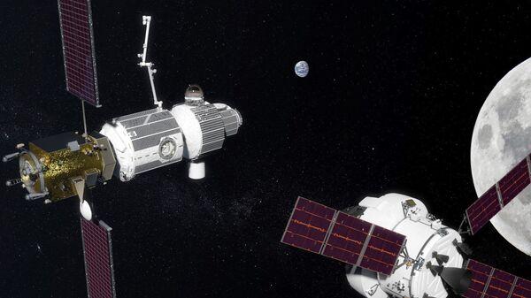 Космические корабли на орбите Луны. Архивное фото